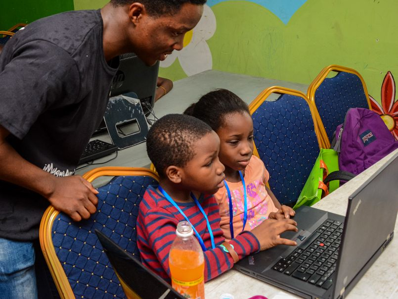 iMyque Code Academy teach kids to code at Harvesters International Christian Centre (HICC), Lekki church
